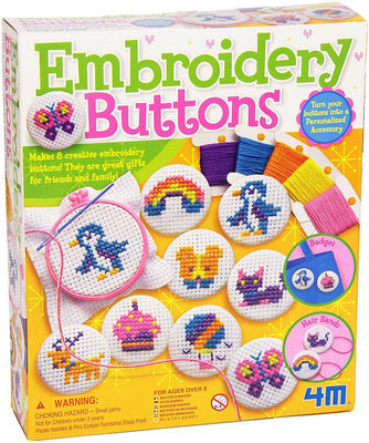 4M Craft - Embroidery Buttons