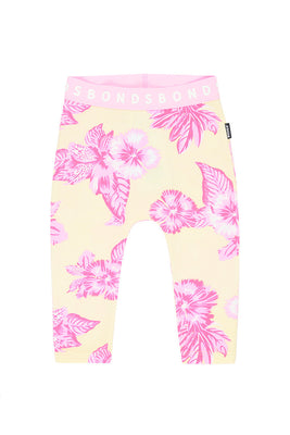 Bonds - Stretchies Legging - Aloha Vibes Banana Cream