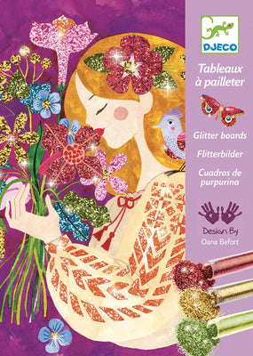 Djeco - Glitter Boards - The Scent Of Flowers