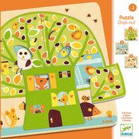 Djeco - 3 Layer Wooden Puzzle - Chez-Nut