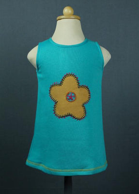 Flower applique' vest dress