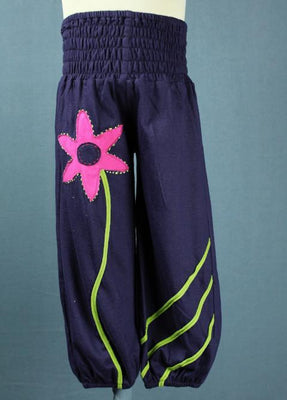 Flower baggie pants