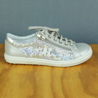 Bopy - Superbo Glitz Sneaker - Silver with Zip