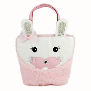 Pink Poppy - Fluffy Rabbit Handbag - Pale Pink