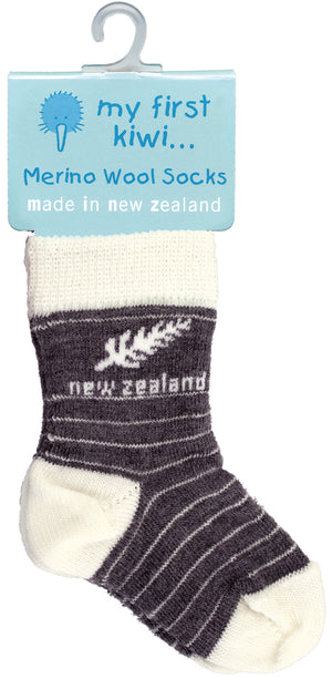 My First Kiwi - Merino Infant's Socks - Fern
