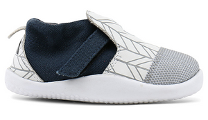Bobux Step Up Herringbone Lane - White/Grey