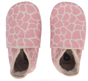 Bobux Soft Sole - Giraffe Print Milk