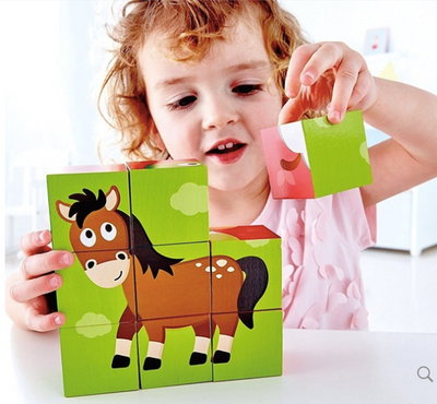 Hape Farm Animal Block Puzzle