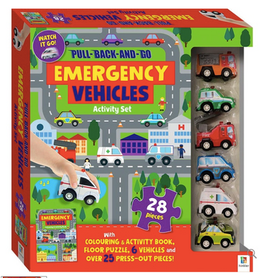 Hinkley Pull Back and Go Vehicles - Emergency Kit