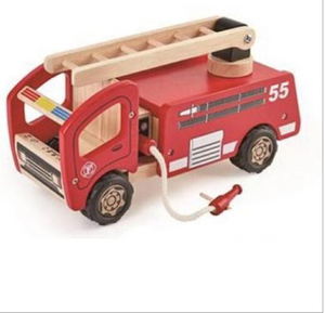 Pintoy Wooden Fire Engine