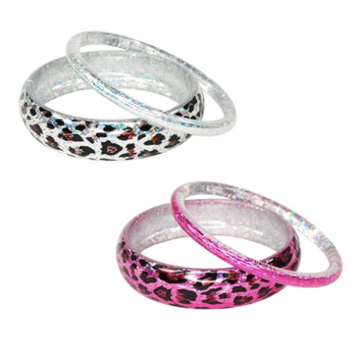 Pink Poppy - Metallic Kitten Bangle Duo - 2 Colours