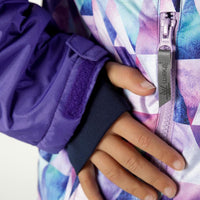 THERM - Waterproof & Windproof Snowrider Ski Jacket - Geo Purple
