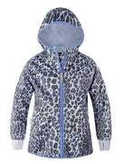 THERM All-Weather Hoodie - Blue Leopard | Waterproof Windproof Eco