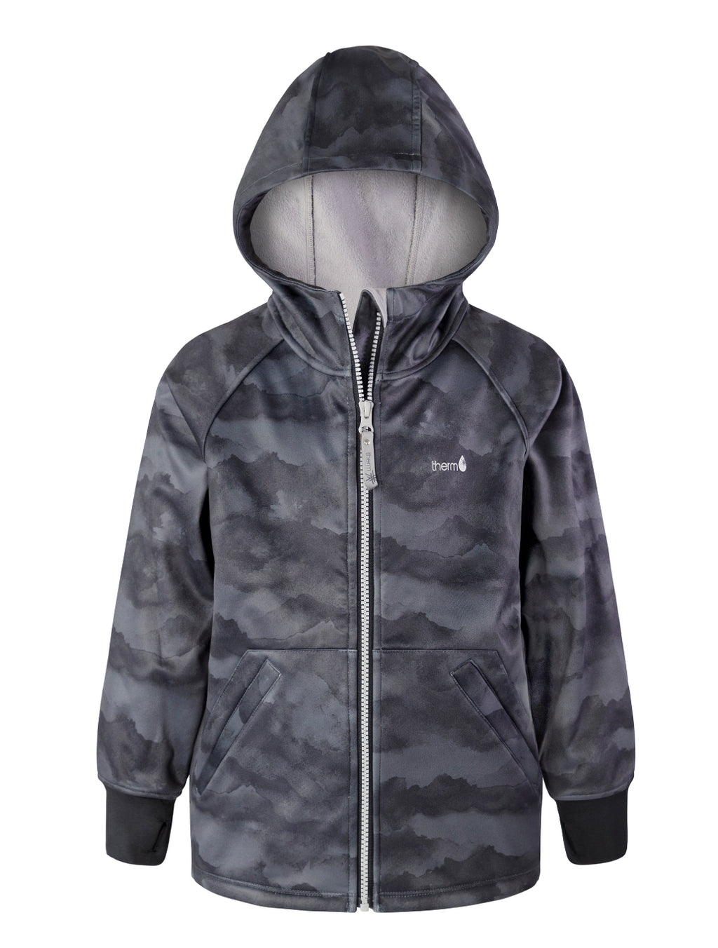 THERM All-Weather Hoodie - Black Mountain | Waterproof Windproof Eco