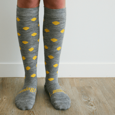 Lamington - Merino Wool Knee High Socks - Coast