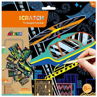 Avenir - Scratch Art - Transportation