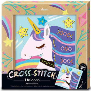 Avenir - Photo Frame - Cross Stitch - Unicorn