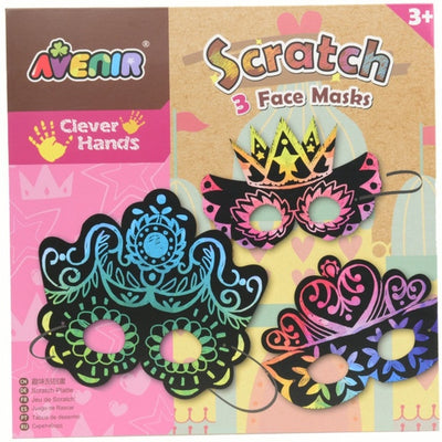 Avenir - Scratch Art - 3 Face Masks