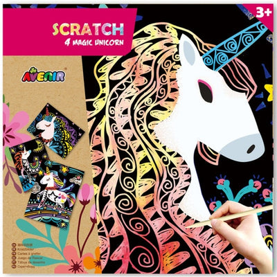 Avenir - Scratch Art - 4 Magic Unicorns