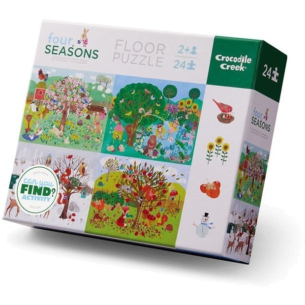 Crocodile Creek - Early Learning Four Seasons Puzzle - 24pc