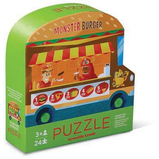Crocodile Creek 2-Sided Puzzle - Monster Burger