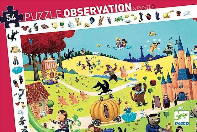 Djeco - Puzzle Observation - Fairy Tales 54pc