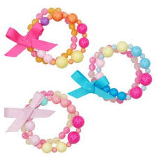 Pink Poppy - Candy Heart Bead Bracelet - Assorted Colours