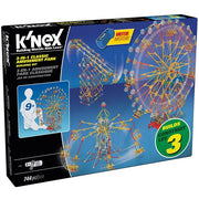 K'nex - 3-In-1 Classic Amusement Park Building Set - 744pc - Including Motor