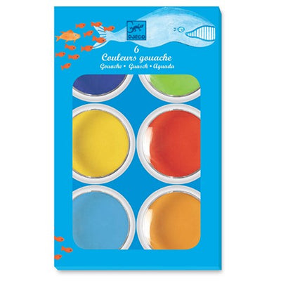 Djeco - Gouaches - 6 Giant Paint Cakes