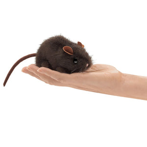 Folkmanis Puppets - Mini Brown Mouse Finger Puppet