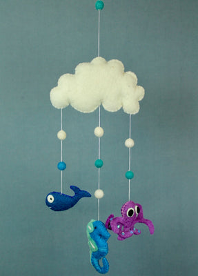 Sea Creatures Felt Mobile