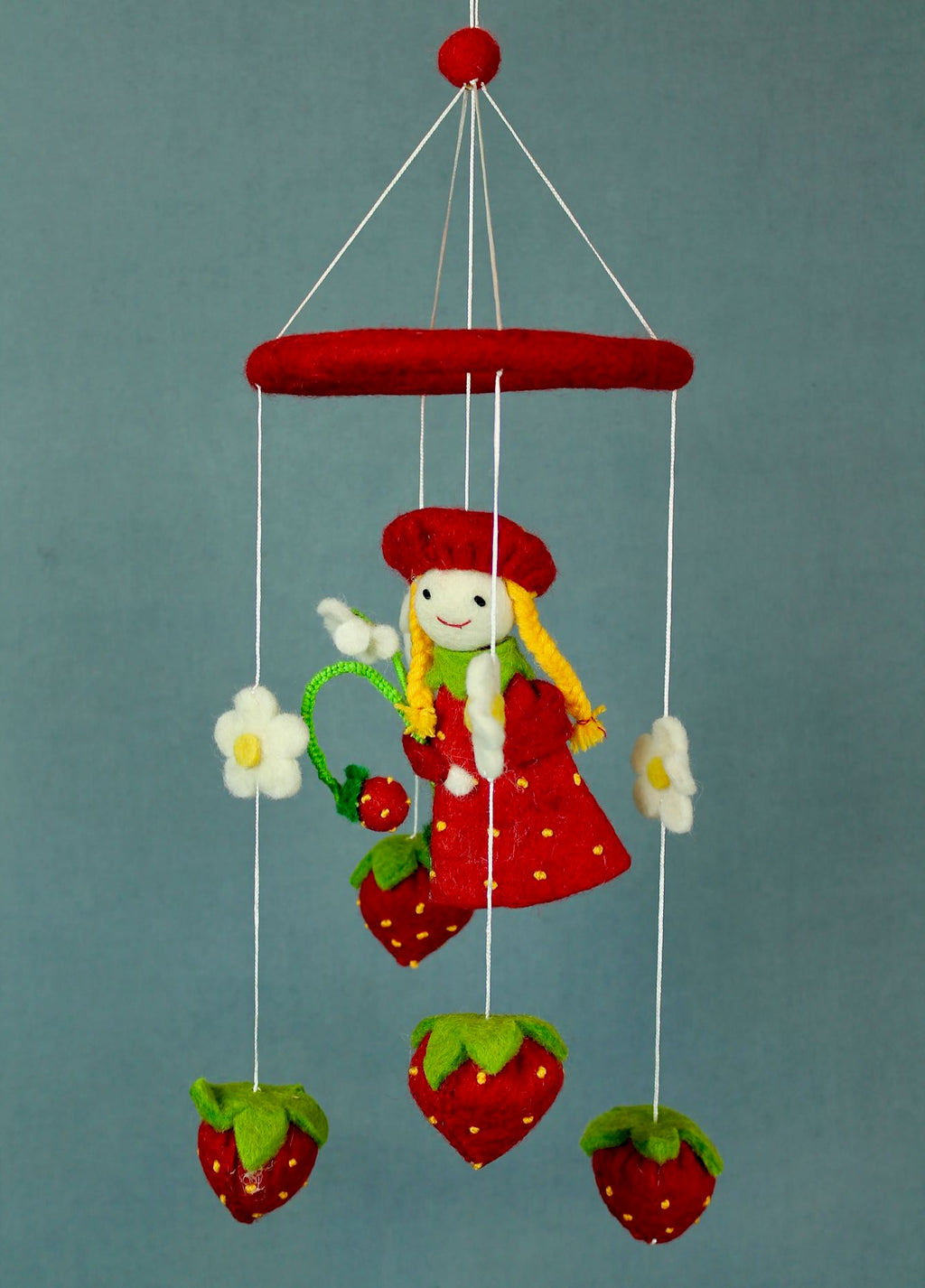 Strawberry Girl Felt Mobile
