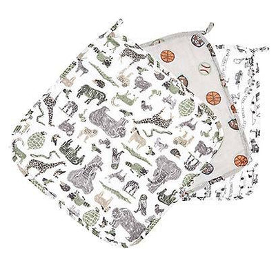 Toshi Muslin Baby Washcloth - Jungle - 3pc
