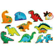Crocodile Creek - Let's Begin 10 Two-Piece Puzzle - Dinosaurs