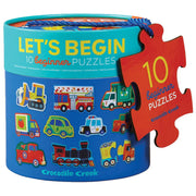 Crocodile Creek - Let's Begin 10 Two-Piece Puzzles - Vehicles