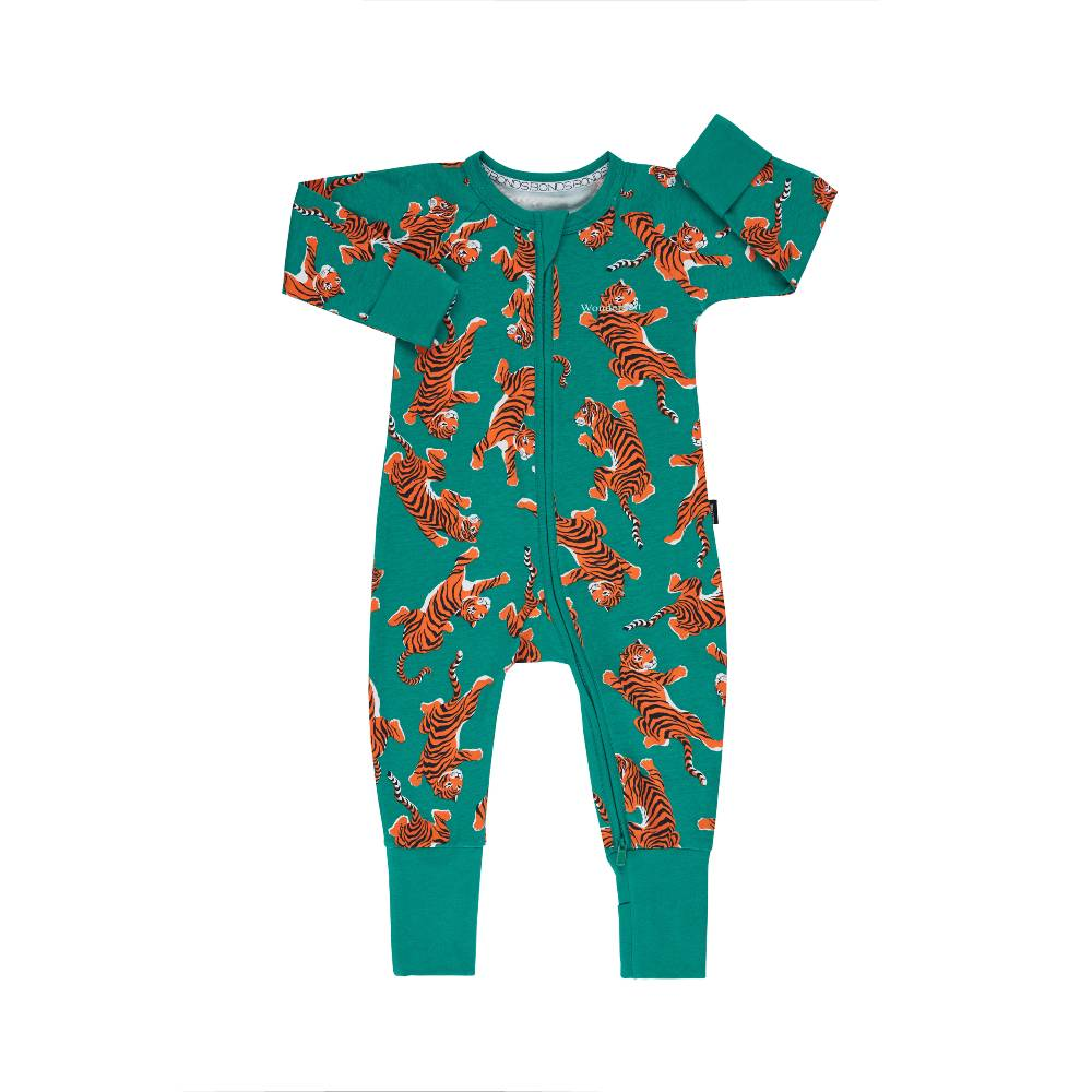 BONDS - Zippy Wondersuit - Climbing Tigers Green