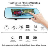 Revolutionary Dash Cam - Dual Lens Rearview Mirror Video Recorder Full HD + Free Gift!