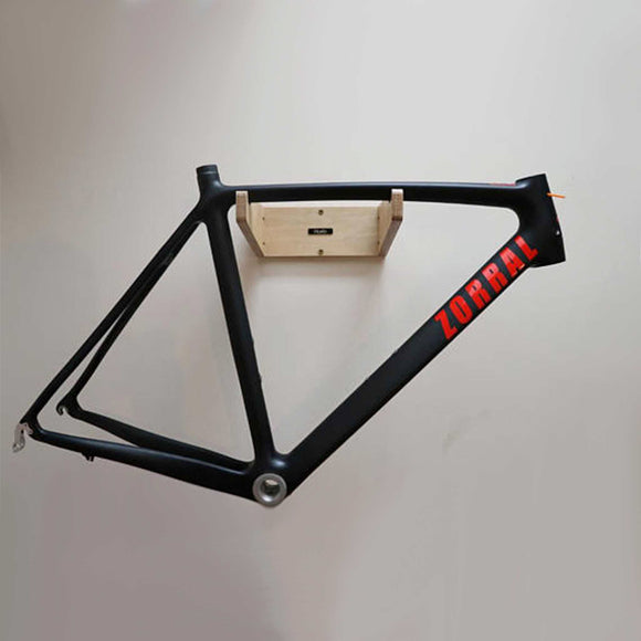 The most simple, beautiful wall mounted bicycle rack ever made. Made from Plywood this bike mount is extremely elegant.