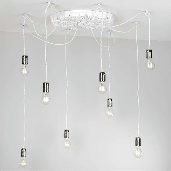 8 cluster pendant lighting system. Stylish and chic.