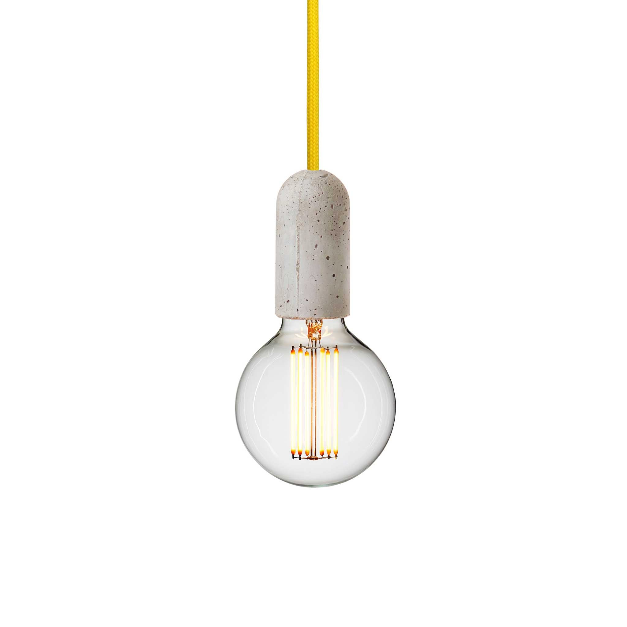 pendant led light lamp plumen included bulb shop concrete