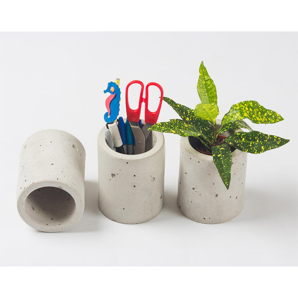 Cylindrical Concrete Planter