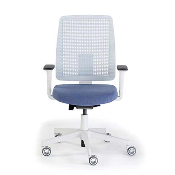 Ensemble White High Back 4D Adjustable Arms Office Chair