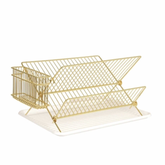 Fabulous gold dish rack, perfect for any office kitchen.