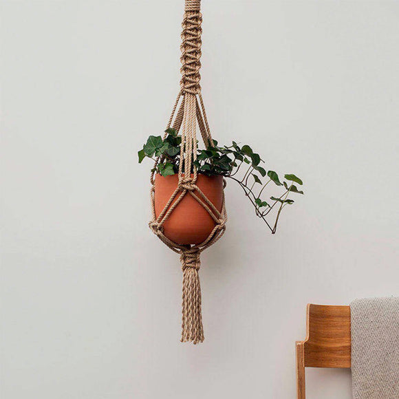 Beautiful Macrame plant hanger rope, ideal for your workspace.