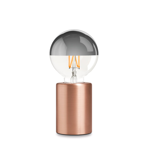 Module Lamp, by Edgar. The minimalist lamp features a cylindrical base made of Metallic brushed anodised steel.