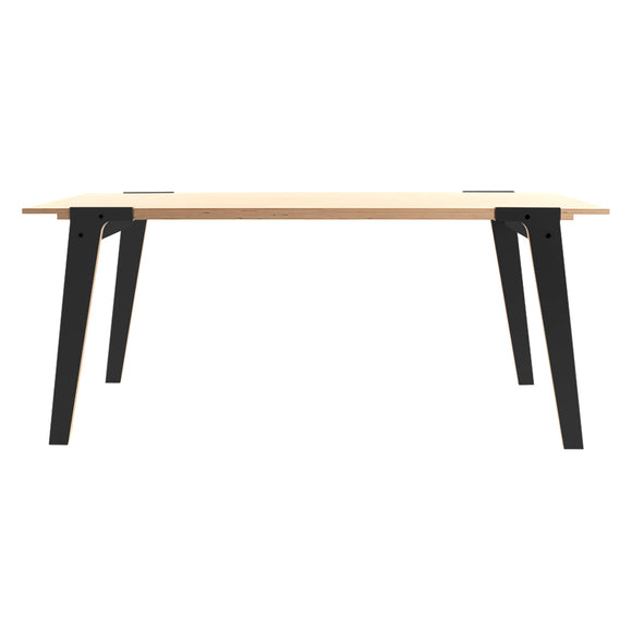 Large switch table with black legs. This Birch Plywood table is versatile and stylish. Available in a variety of colours.