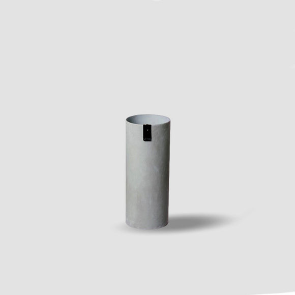 Striking tall grey paper vase. Absolute must for any workspace.