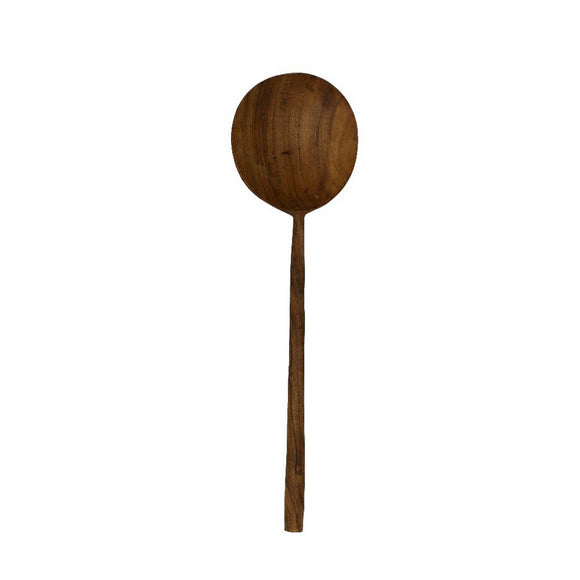 Teak Spatula, handmade and natural ladle shape. Beautifully crafted item