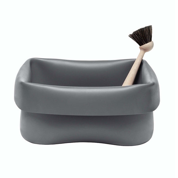 Award winning grey washing up bowl and brush. This is an exceptional piece of design that is adaptable for many uses.