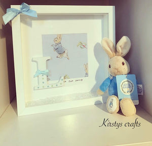 Rabbit Letter Frame - Boy (teddy not included) - The Perfect Gift Co.